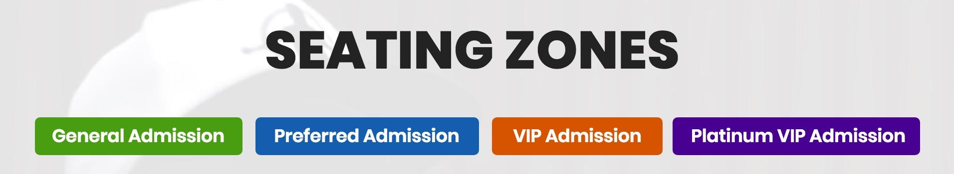 Seating Zones