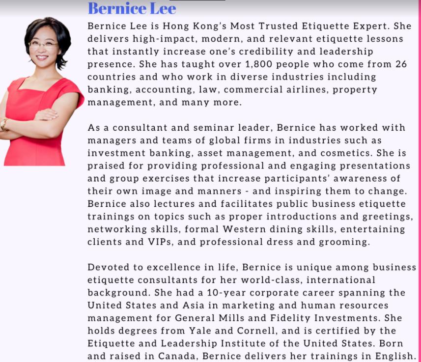 Small Talks Circles Bernice Lee
