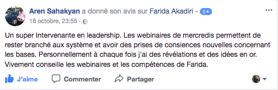 Témoignage Participant Self-Leadership Mastery 2