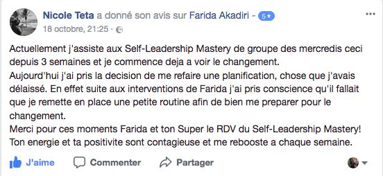 Témoignage Participant Self-Leadership Mastery 3