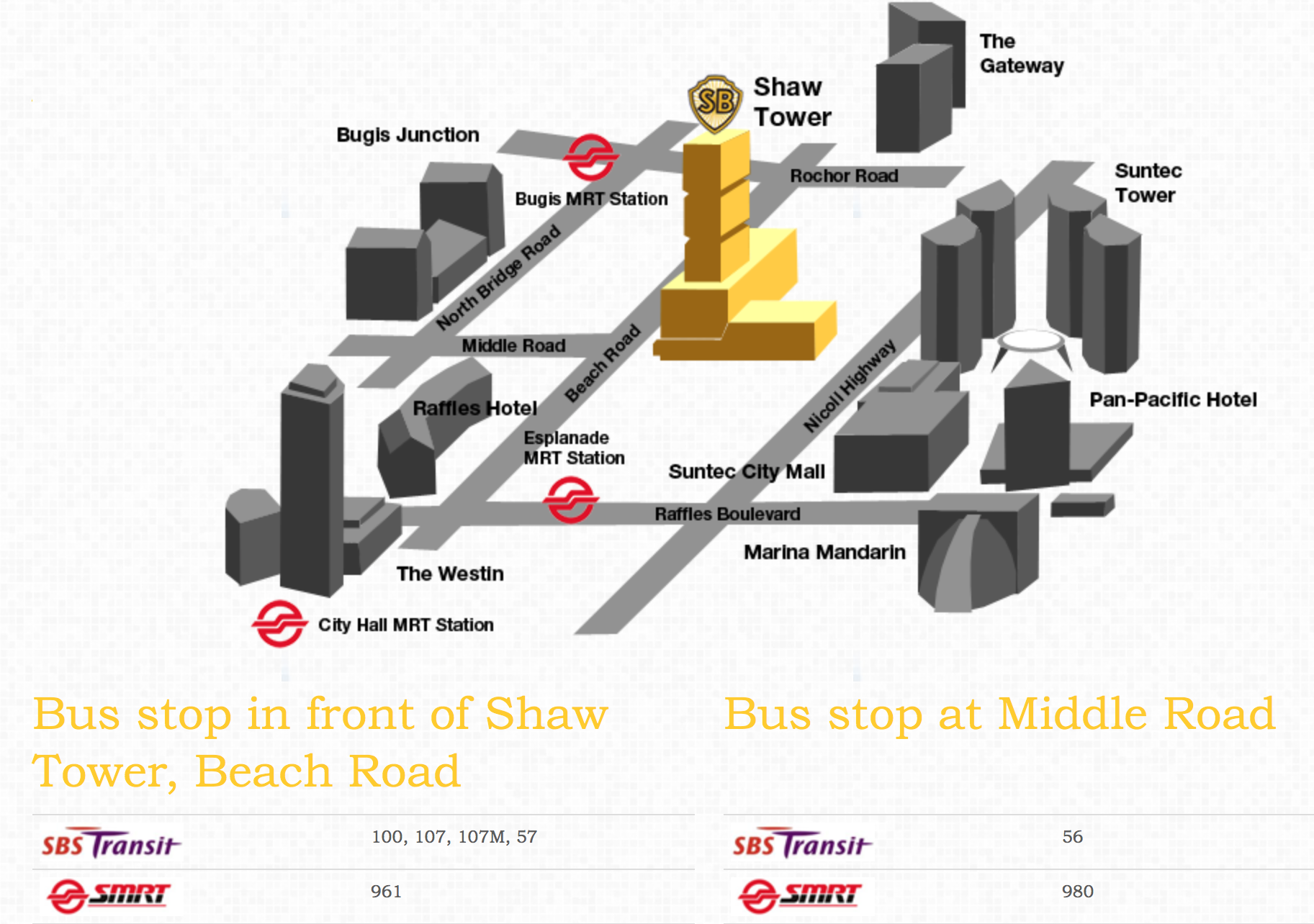 Shaw Tower Map