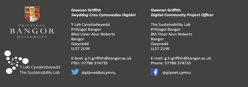 Gwenan Griffith Contact Details