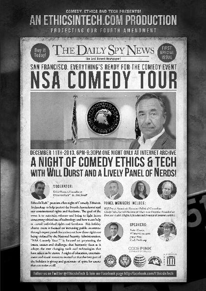 NSA Comedy Tour, Comedy Ethics In Tech.