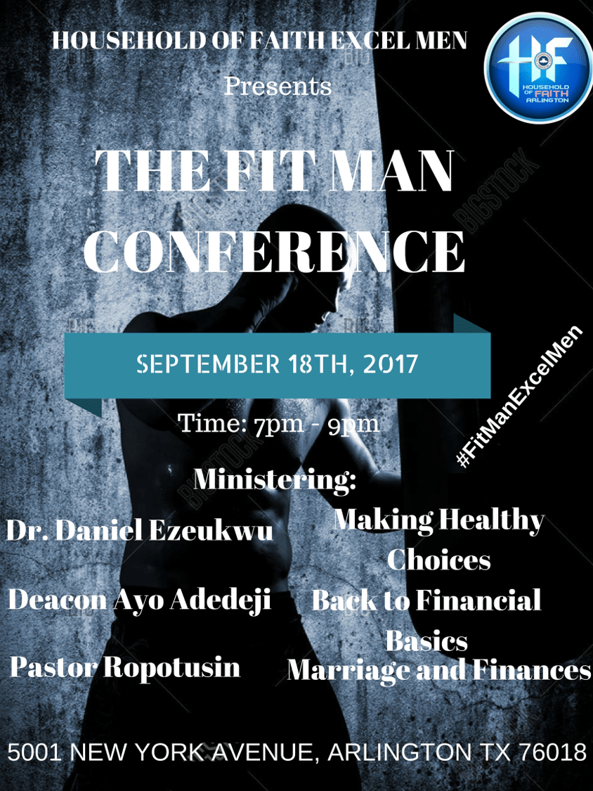 Fit Man Conference Flier