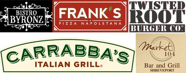 Collage of restaurant logos