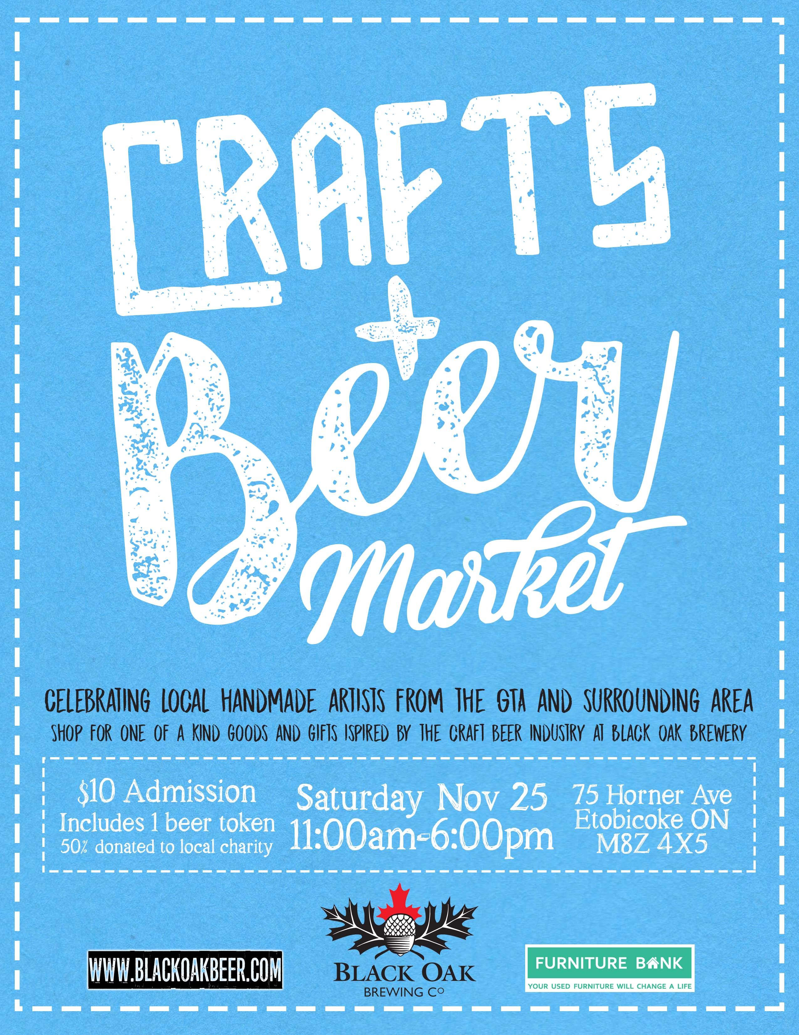 Crafts beer market at black oak brewery tickets sat 25 for Craft beer market share 2017