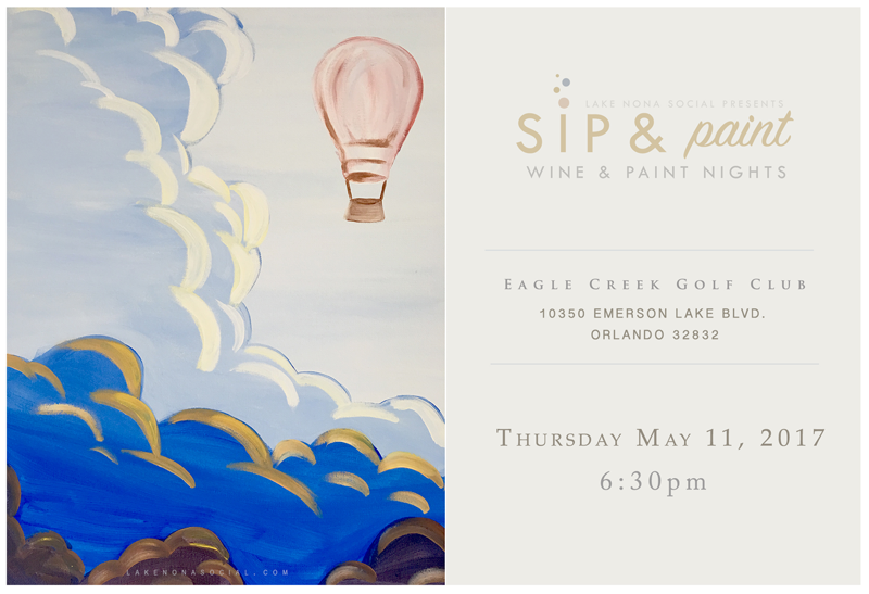 Wine paint nite by lake nona social eagle creek golf for Wine and paint orlando