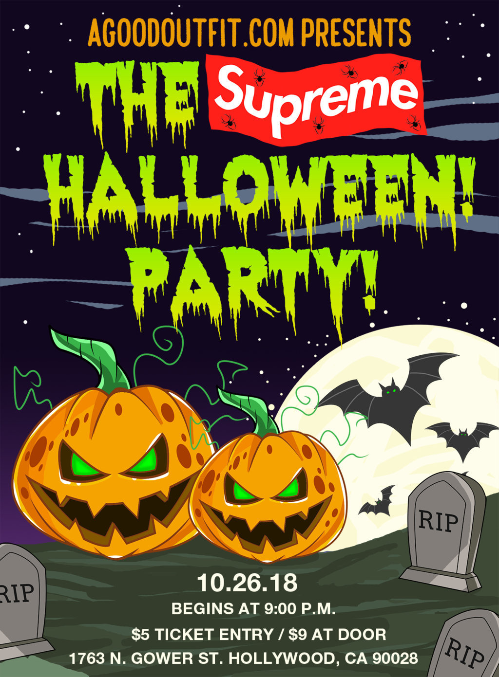 agoodoutfit presents: the supreme halloween party tickets, fri, oct