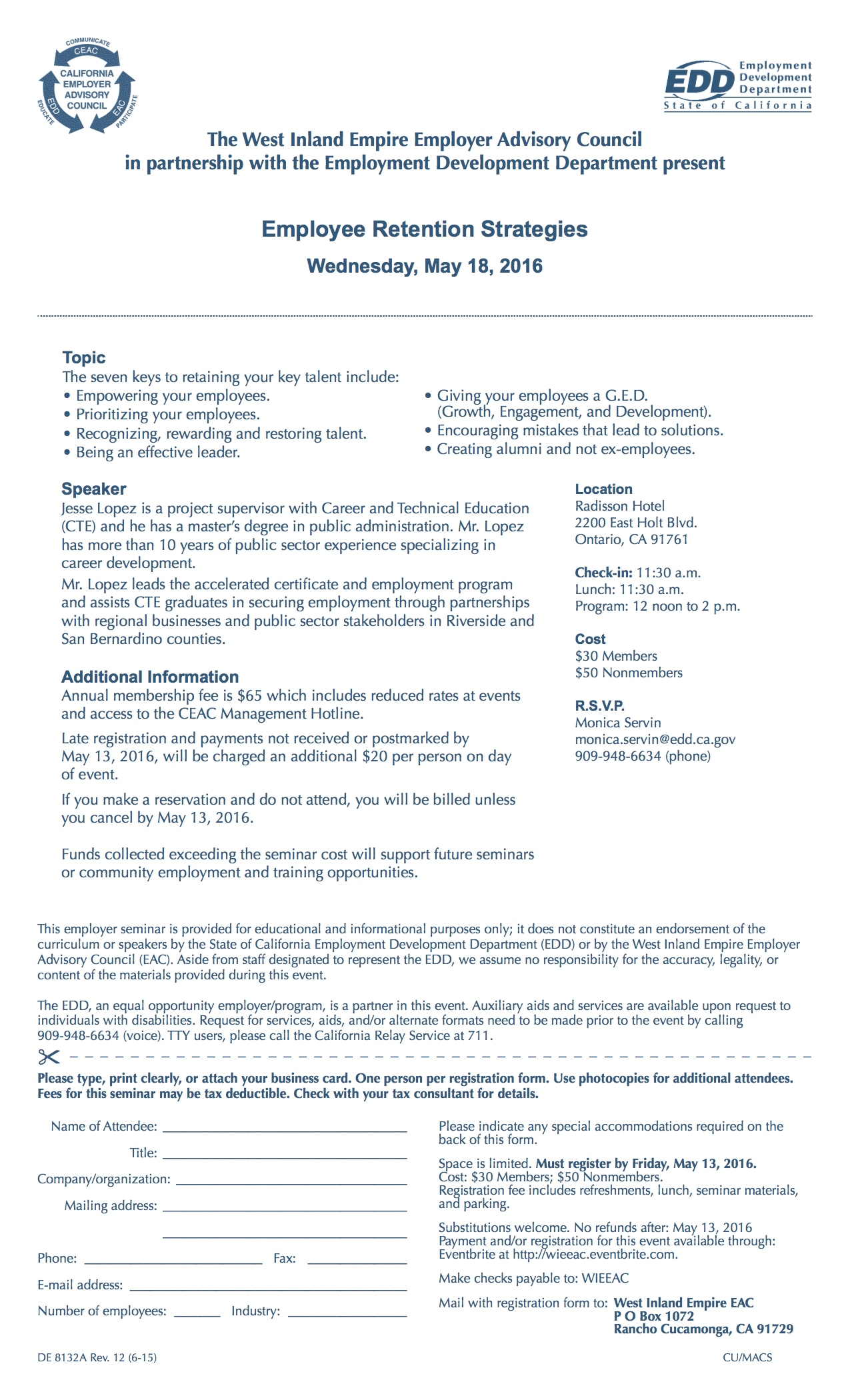 Employee Retention Flyer
