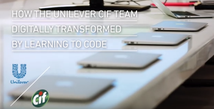 How Unilever's Global Cif Team Digitally Transformed By Learning To Code