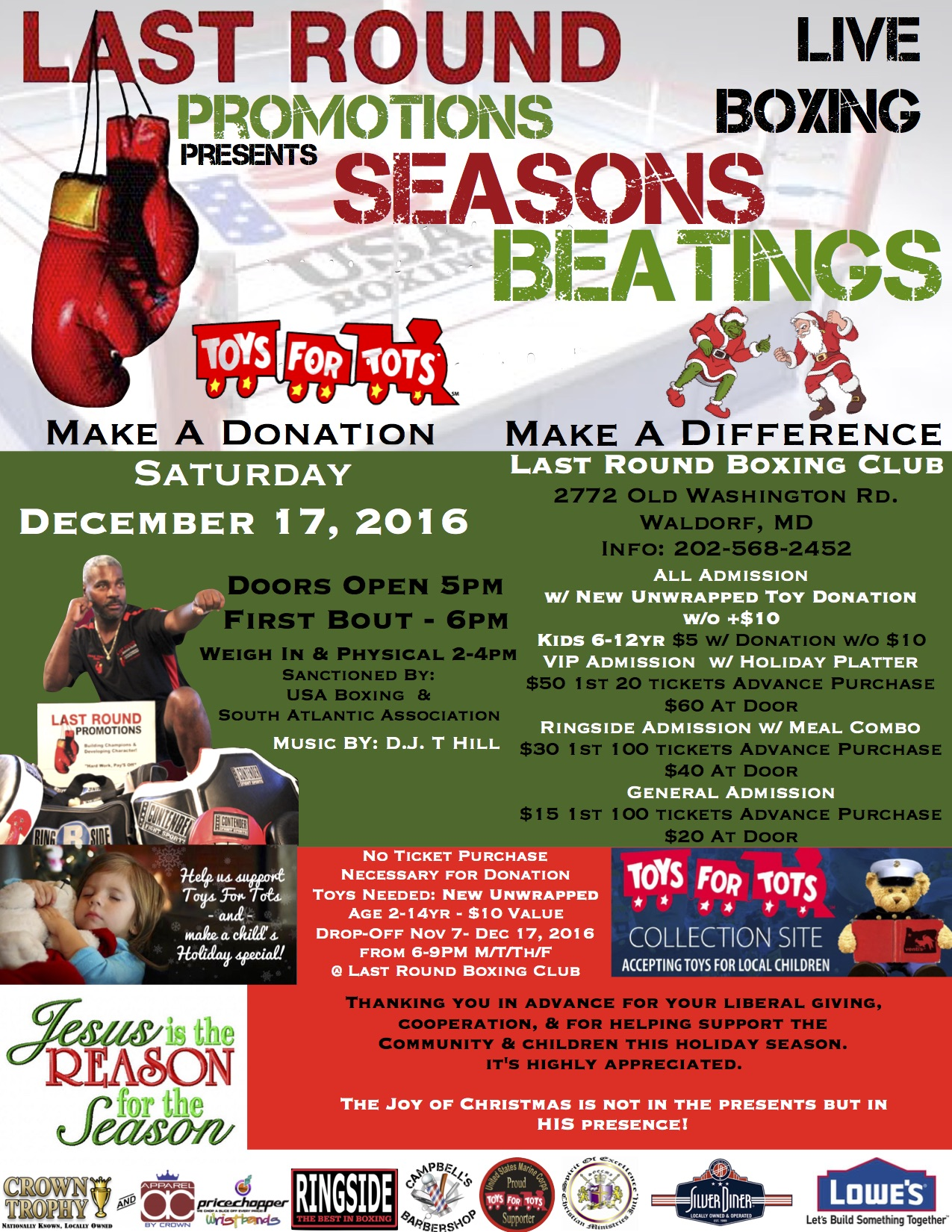Seasons Beatings Flyer & Additional Information
