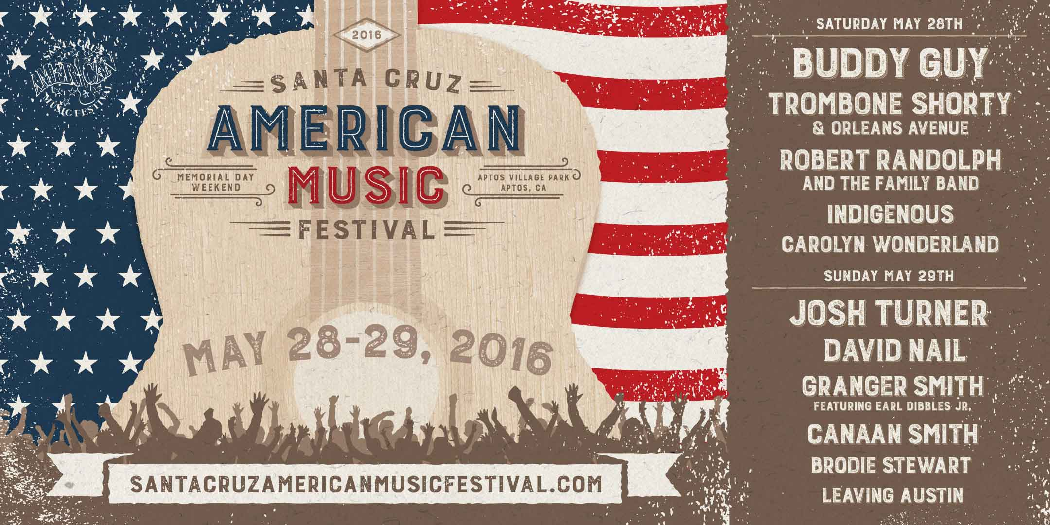 Santa Cruz American Music Festival | May 28 & 29, 2016 | Aptos Village Park in Aptos, CA