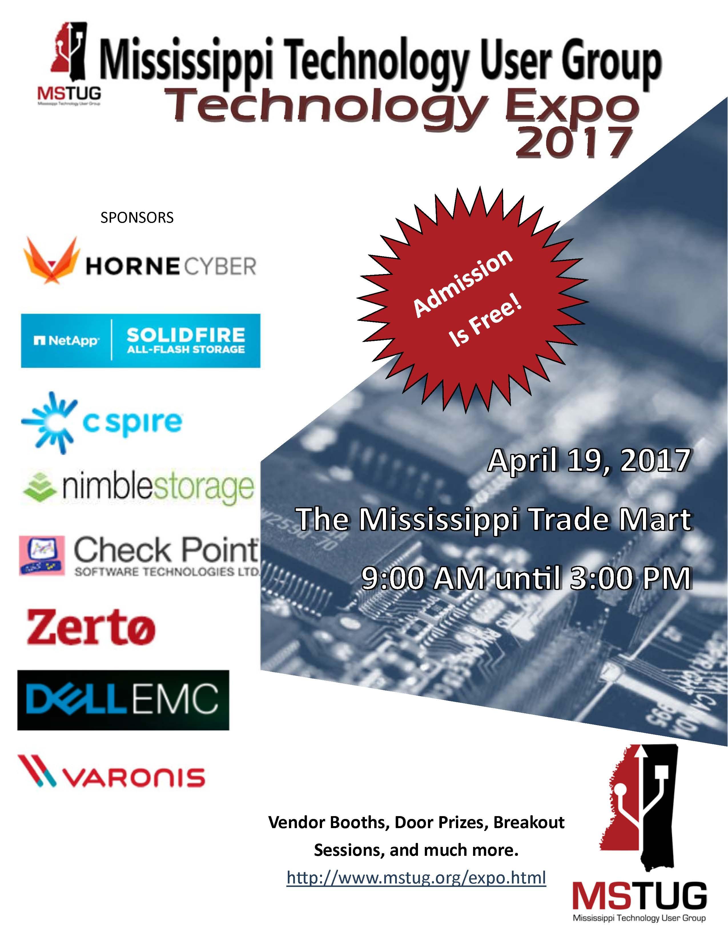 2017 Tech Expo Sponsors