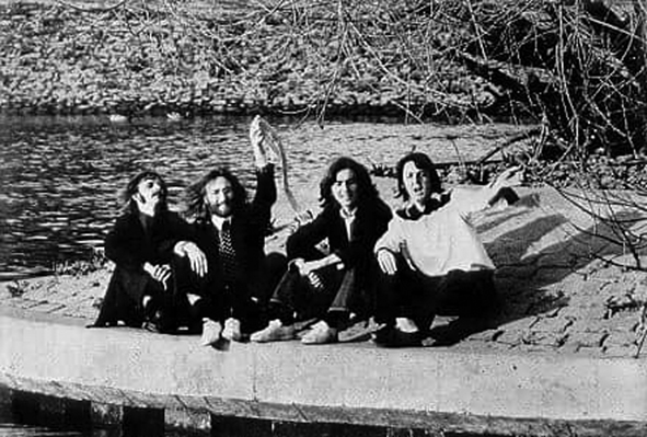 The Beatles last photograph taken on 'The Flower Pots' in Richmond