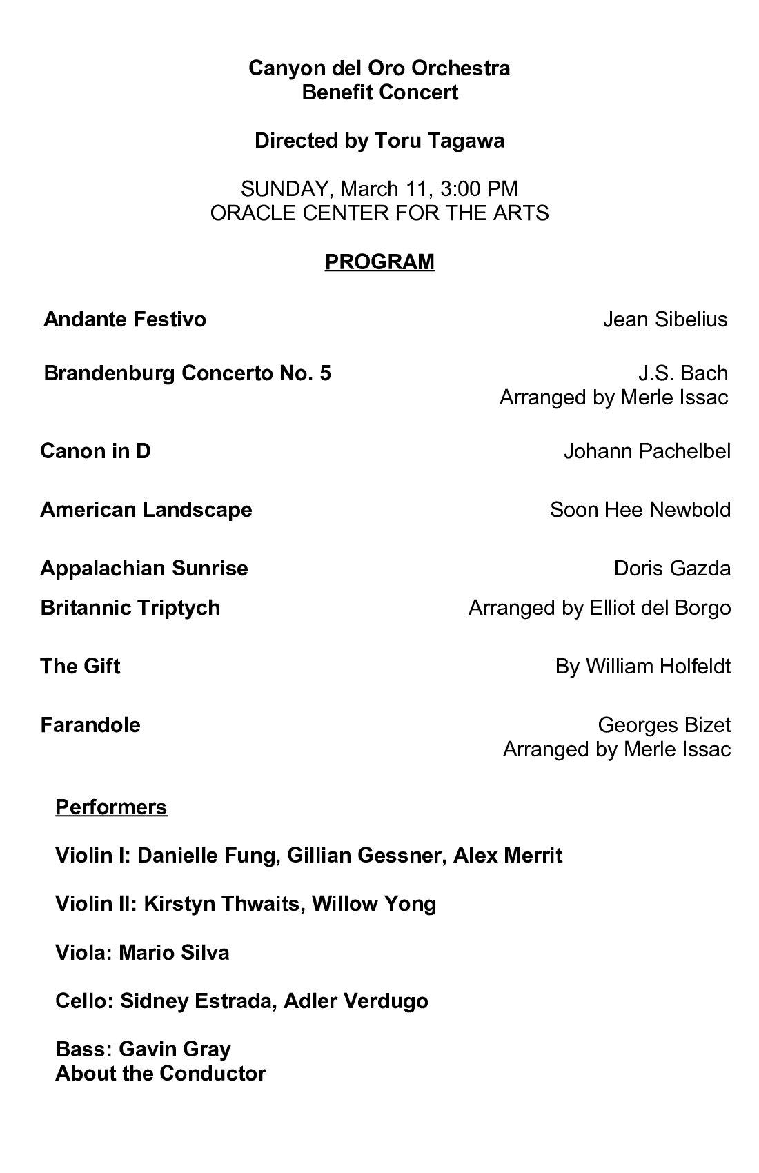 CDO Orchestra Concert Program
