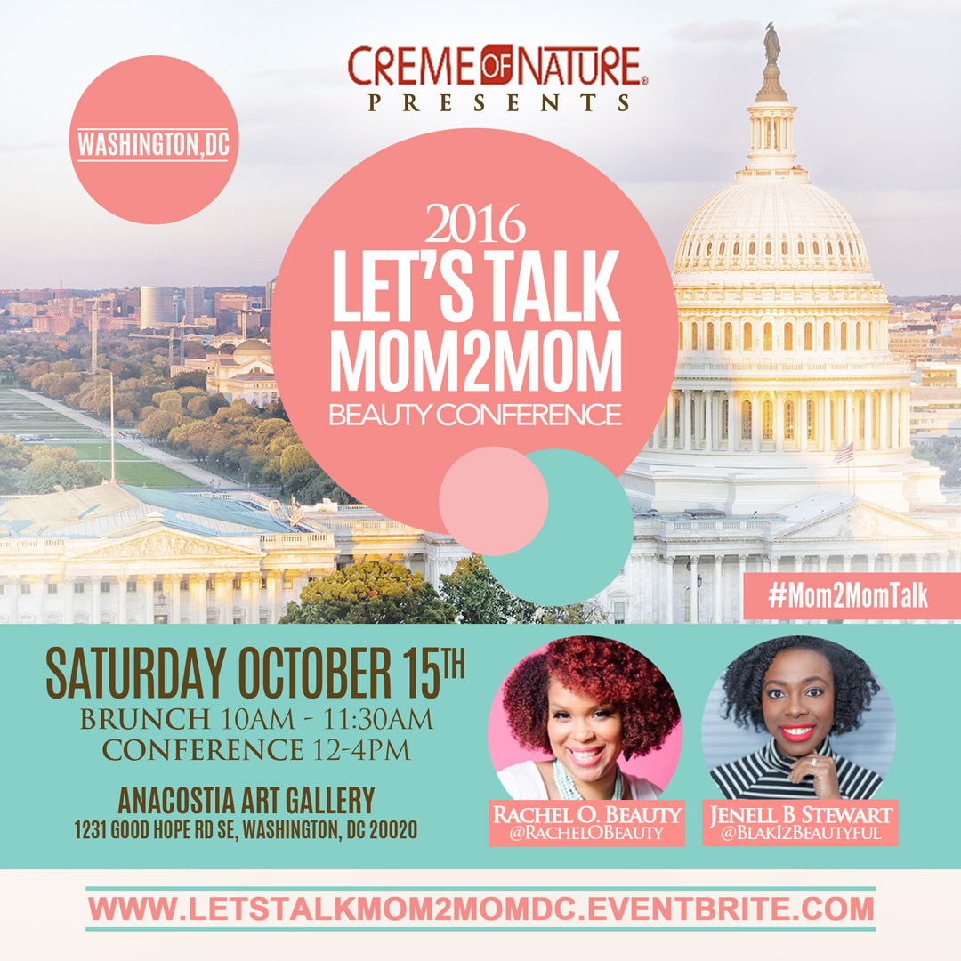 let u0027s talk mom2mom beauty conference dc presented by creme of