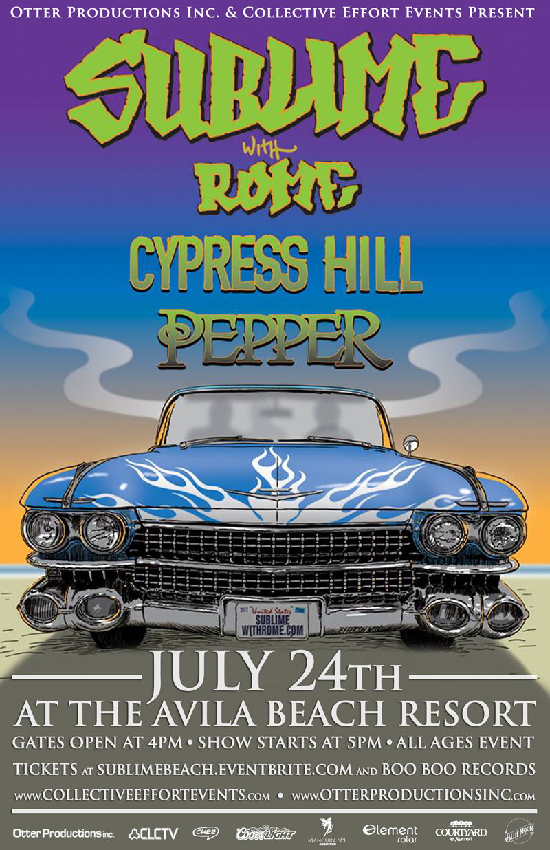 Sublime, Cypress Hill and Pepper at the Avila Beach Resort