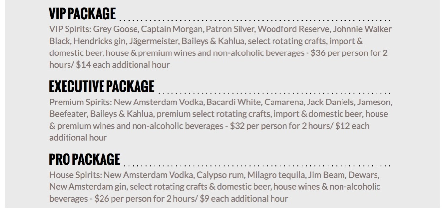 Chicago WhirlyBall Drink Packages