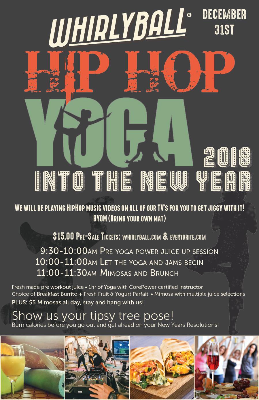Hip-Hop Yoga on 12/31 at WhirlyBall