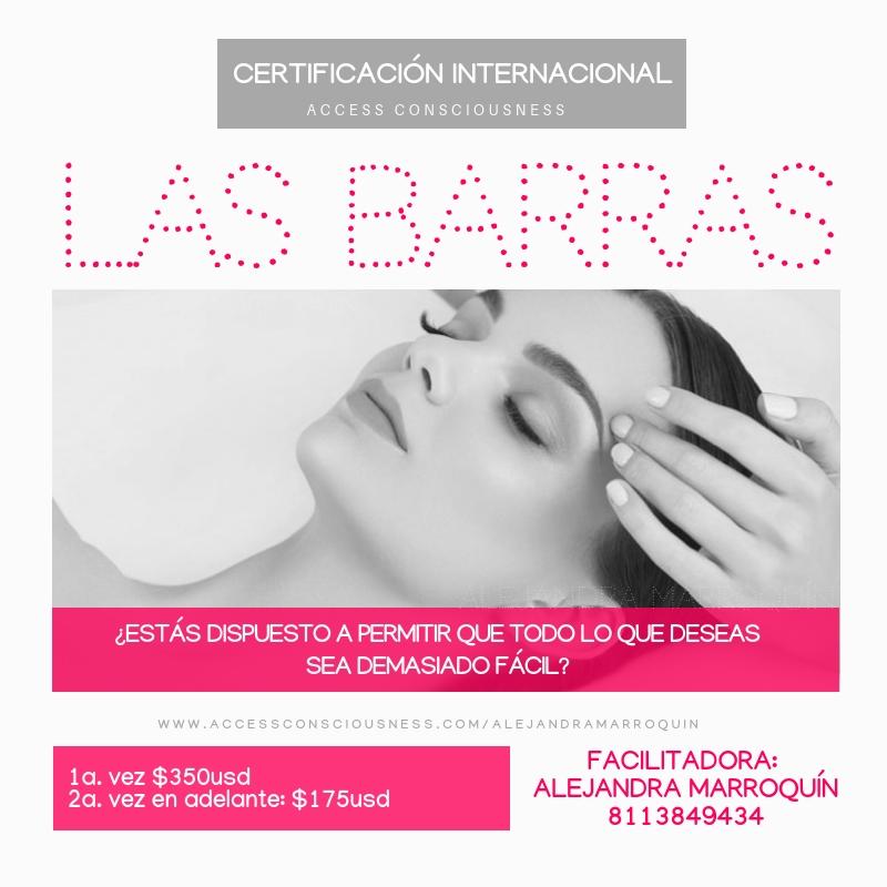 Cursos de Las Barras en Monterrey con Alejandra Marroquín