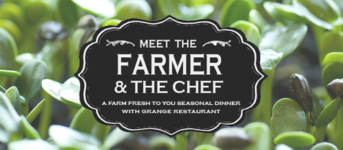 Farm Fresh To You Seasonal Dinner with the Grange