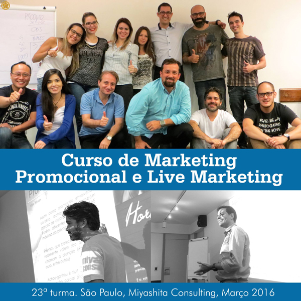 23ª turma do Curso de Marketing Promocional e Live Marketing