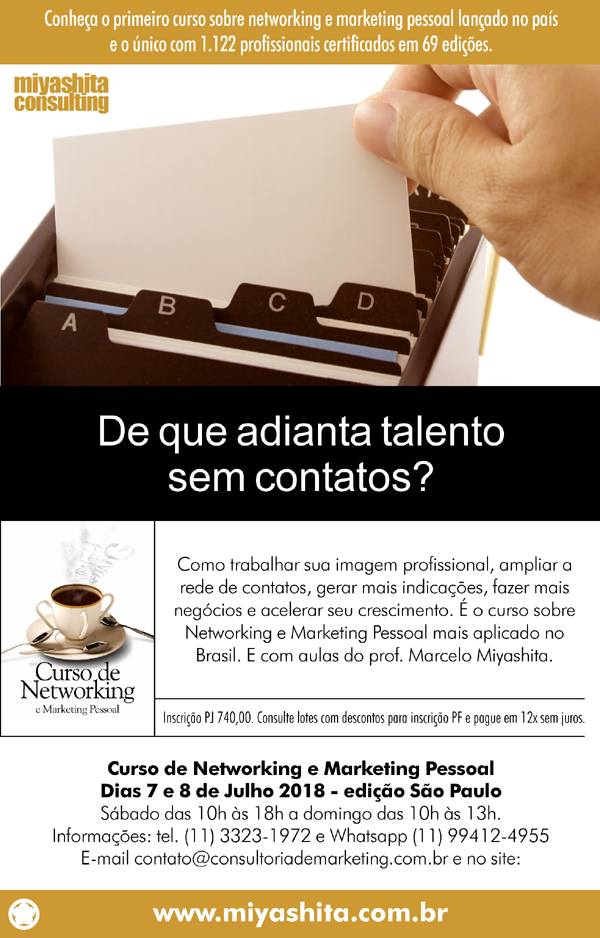 Curso de Networking e Marketing Pessoal