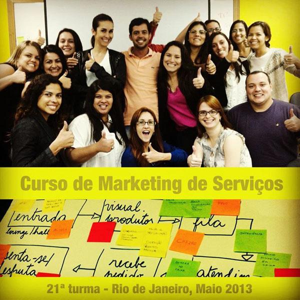 21ª turma do Curso de Marketing de Serviços e Gestão de Atendimento