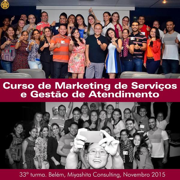 33ª turma do Curso de Marketing de Serviços e Gestão de Atendimento