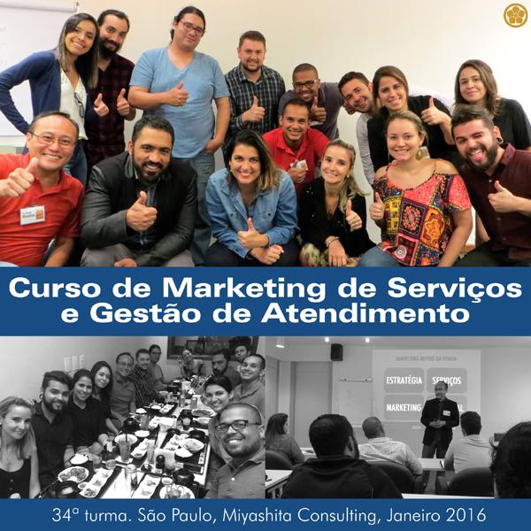 34ª turma do Curso de Marketing de Serviços e Gestão de Atendimento