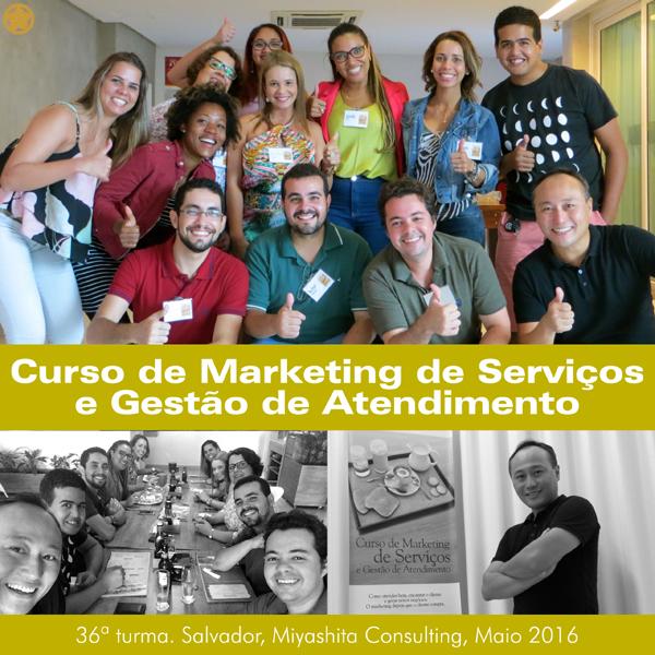 36ª turma do Curso de Marketing de Serviços e Gestão de Atendimento