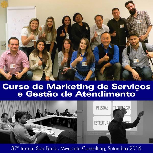 Curso de Marketing de Serviços e Gestão de Atendimento - 37ª turma