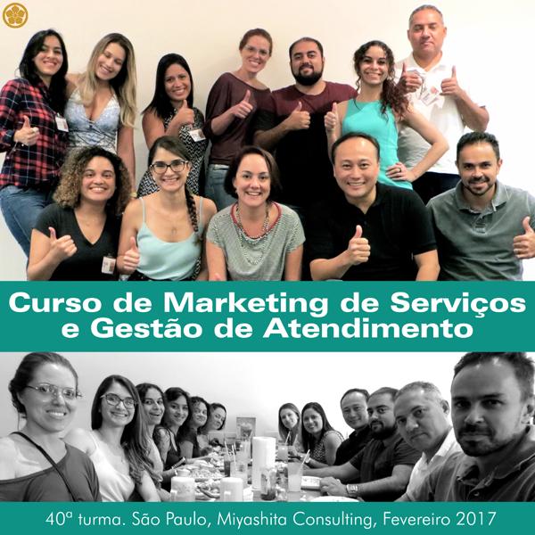 Curso de Marketing de Serviços e Gestão de Atendimento - 40ª turma