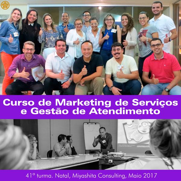 Curso de Marketing de Serviços e Gestão de Atendimento - 41ª turma