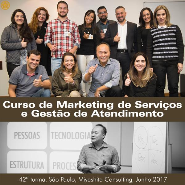 Curso de Marketing de Serviços e Gestão de Atendimento - 42ª turma