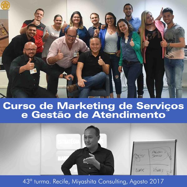 Curso de Marketing de Serviços e Gestão de Atendimento - 43ª turma