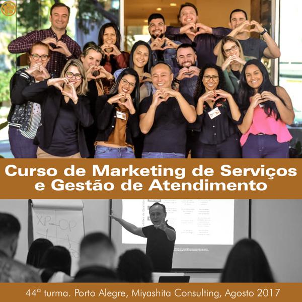 Curso de Marketing de Serviços e Gestão de Atendimento - 44ª turma