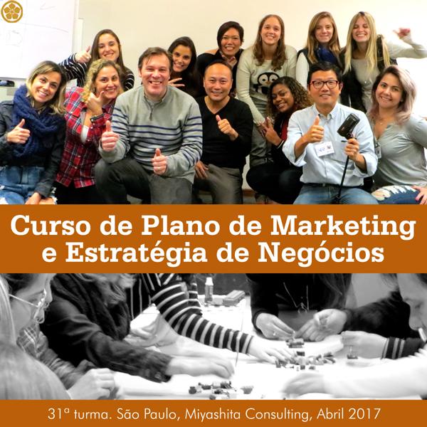 Curso de Plano de Marketing e Estratégia de Negócios - 31ª turma