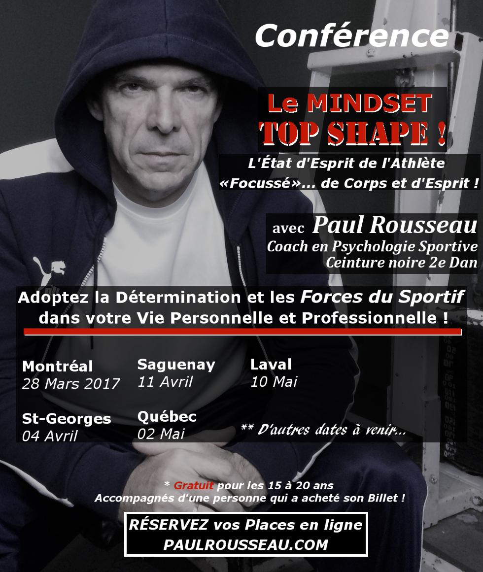 Paul Rousseau Conférence MINDSET Top Shape! www.paulrousseau.com