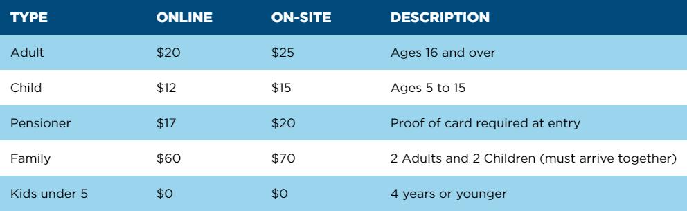 Brisbane Ticket Prices