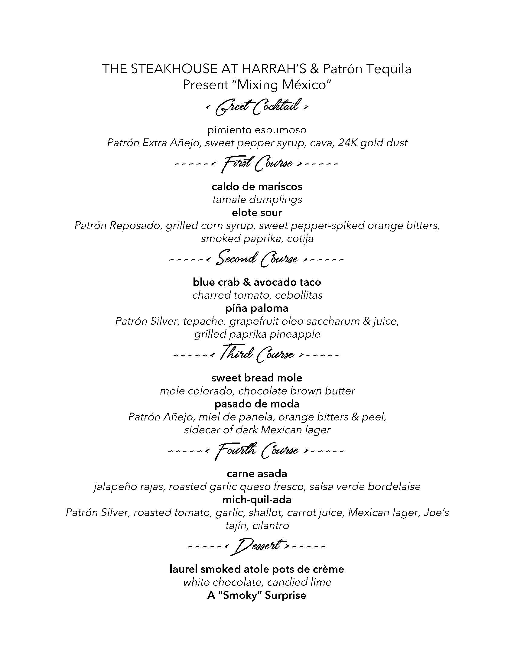 Tales of the Cocktail Menu