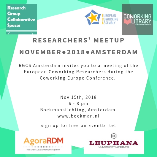 Coworking Europe Researchers' Meetup 2018