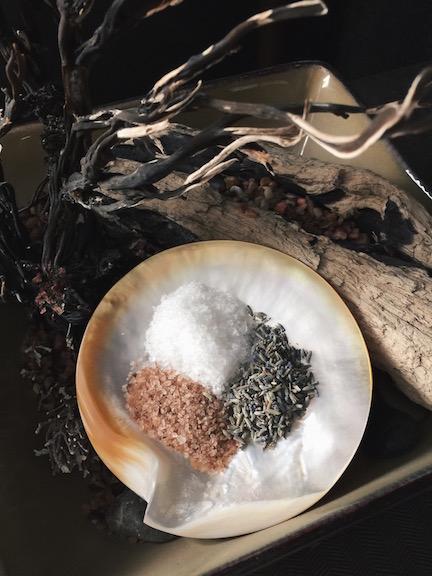 Dead Sea salts + lavender = soothing