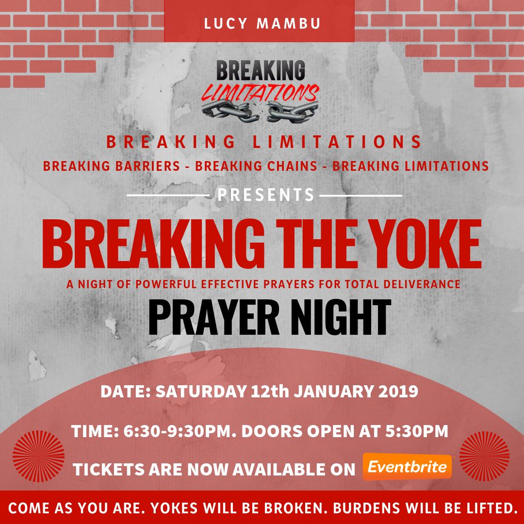 BREAKING THE YOKE PRAYER NIGHT