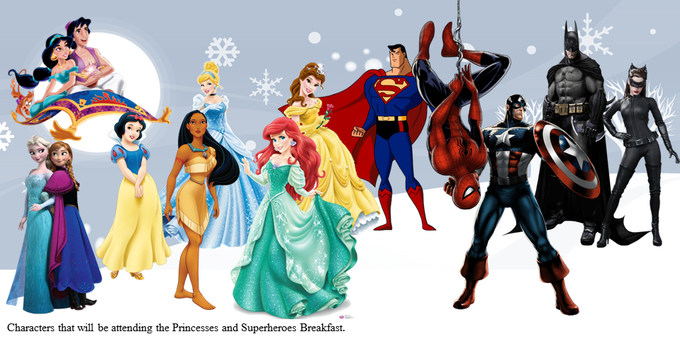 Princess & Superhero Breakfast Tickets, Sat, Jan 9, 2016 at 8:30 AM ...