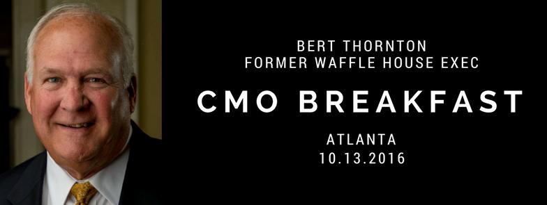 Waffle House former exec Bert Thornton CMO Breakfast Atlanta
