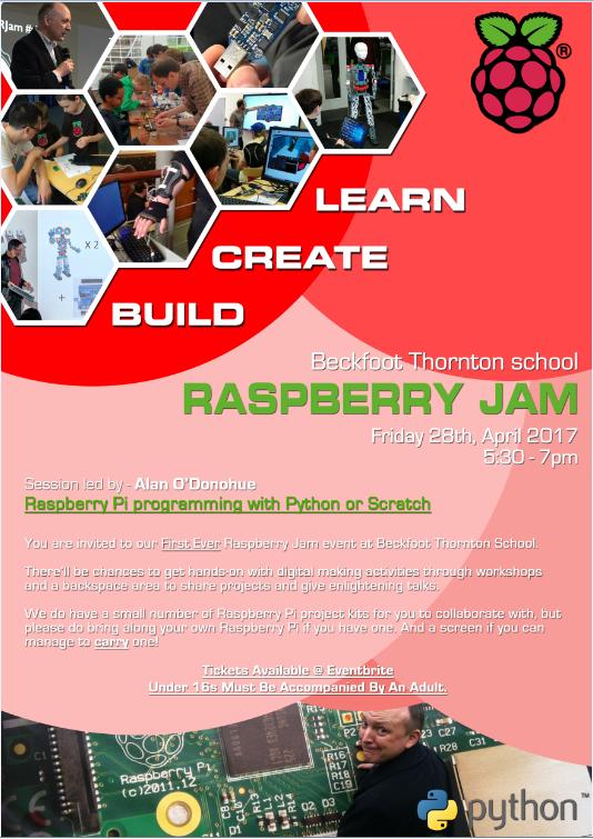 Raspberry Jam, Beckfoot Thornton