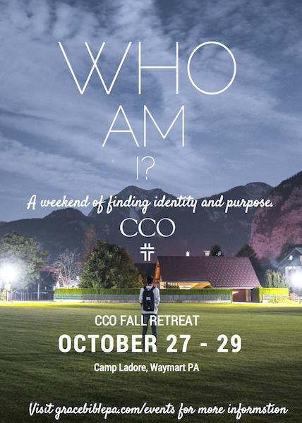 CCO Fall Retreat 2017 Flyer