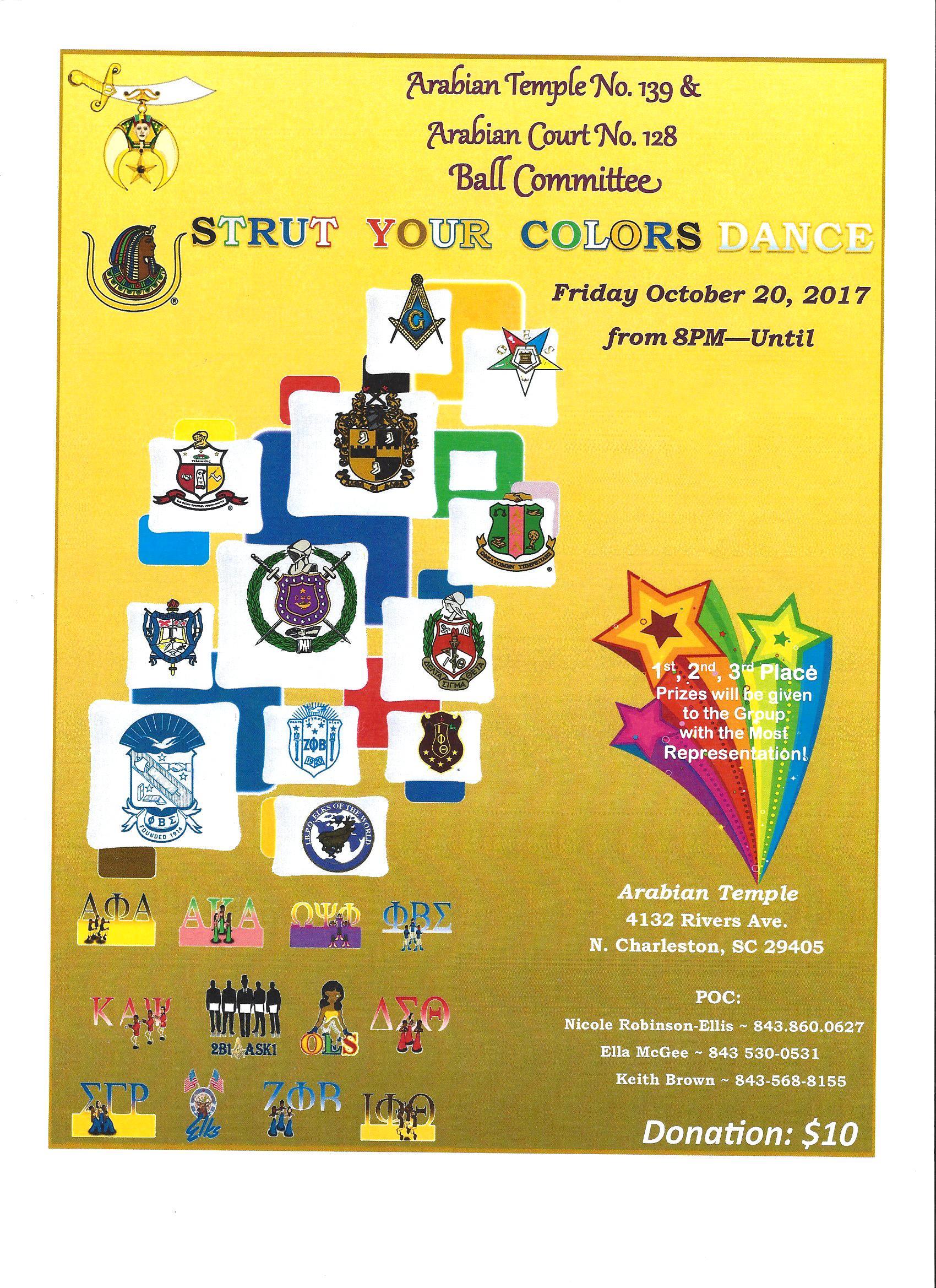 Arabian Temple 139 Strut your Colors Flyer