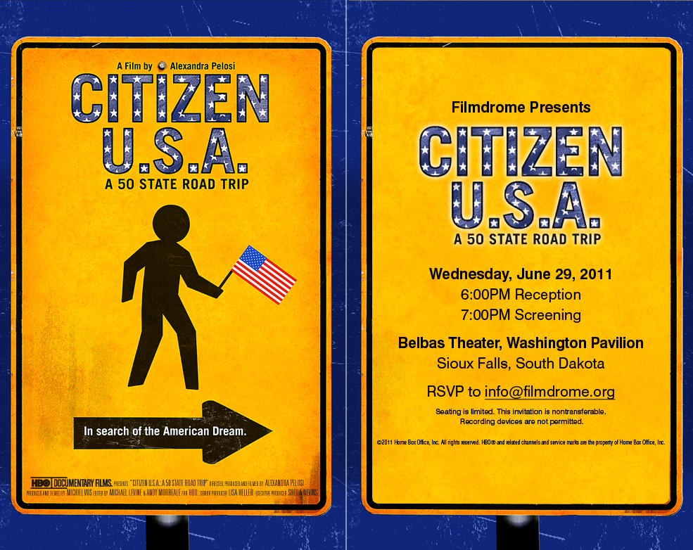 Filmdrome Presents, Citizen USA: A 50 State Road Trip